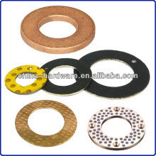 flat bronze bearing thrust washer,brass steel bimetal thrust washer,copper bush oilless du dry slide washer