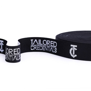 custom printed garment high tenacity knitted tape recycled decorative woven jacquard PP/nylon/polyester webbing