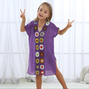 2018 Hot Sale Handmade Design Children Cover up Beachwear For Child