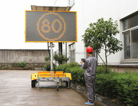 OPTRAFFIC 2 Years Warranty Radar Optional Traffic Control Led Moving Message Road Sign Portable Led Sign Solar Display Board
