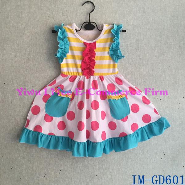 5b1d06fc7dd Hot Sale Children s Boutique Clothes Trendy Little Baby Girls Cotton  Ruffles Dresses Kids Cotton Frocks IM