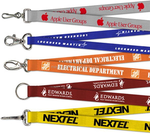 Full Color Lanyard Necklace Keychain Lanyards , Printed Lanyard With Keychains
