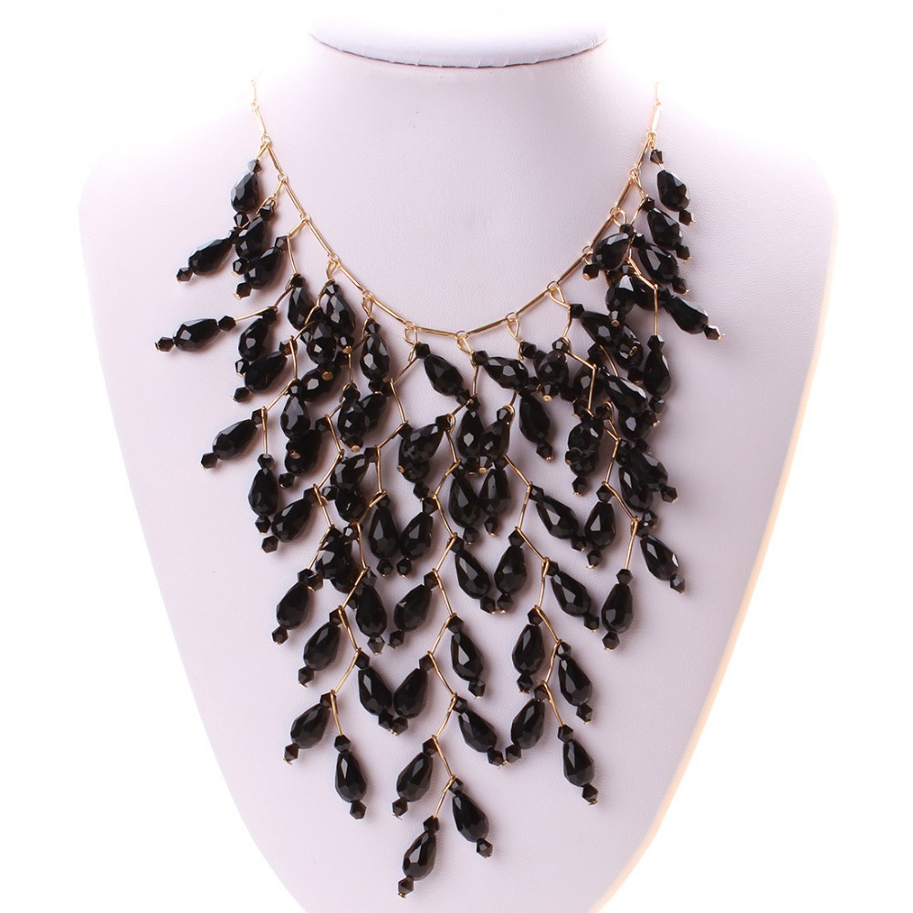 2015 joyas de cristal de bohemia, Bisuteria al por mayor china collar de cristal