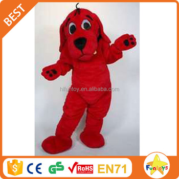 funtoys ce funny clifford the big red character dog mascot costume - Clifford The Big Red Dog Halloween Costume