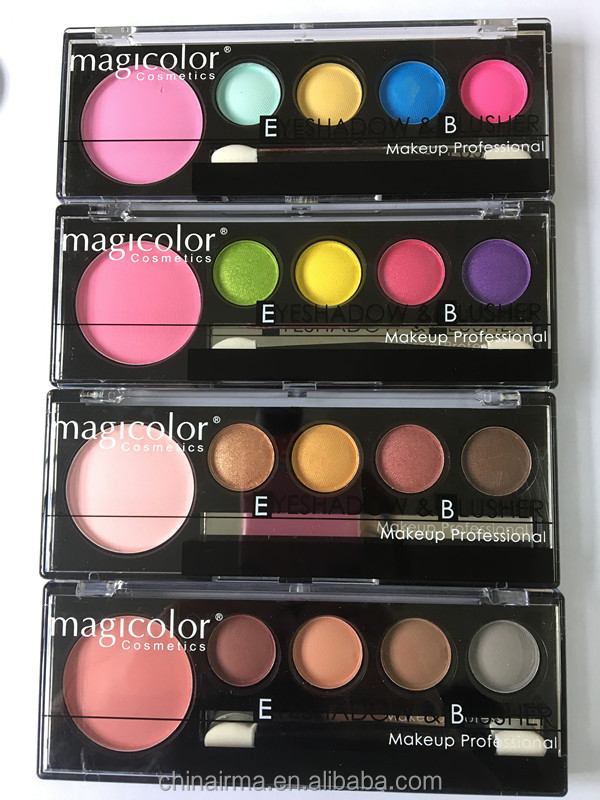 Kiss beauty 4 color morphe eyeshadow,pressed glitter eyeshadow palette with cardboard packaging