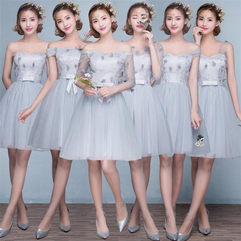 67089b51dd4b 2019 più nuovo occidentale formale da sposa festa di nozze sorelle besties  flora di applique di