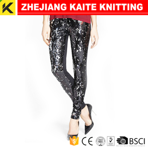 KT-01336 black sequin leggings
