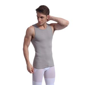 Fancy Hot Fat Burn Slimming Men Vest Body Shapewear Fabric mens slimming vest
