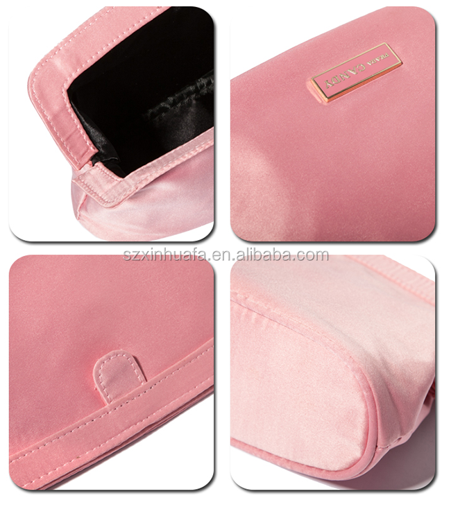 2015 China Supplier Top Quality Satin Sponge Cosmetic Bag