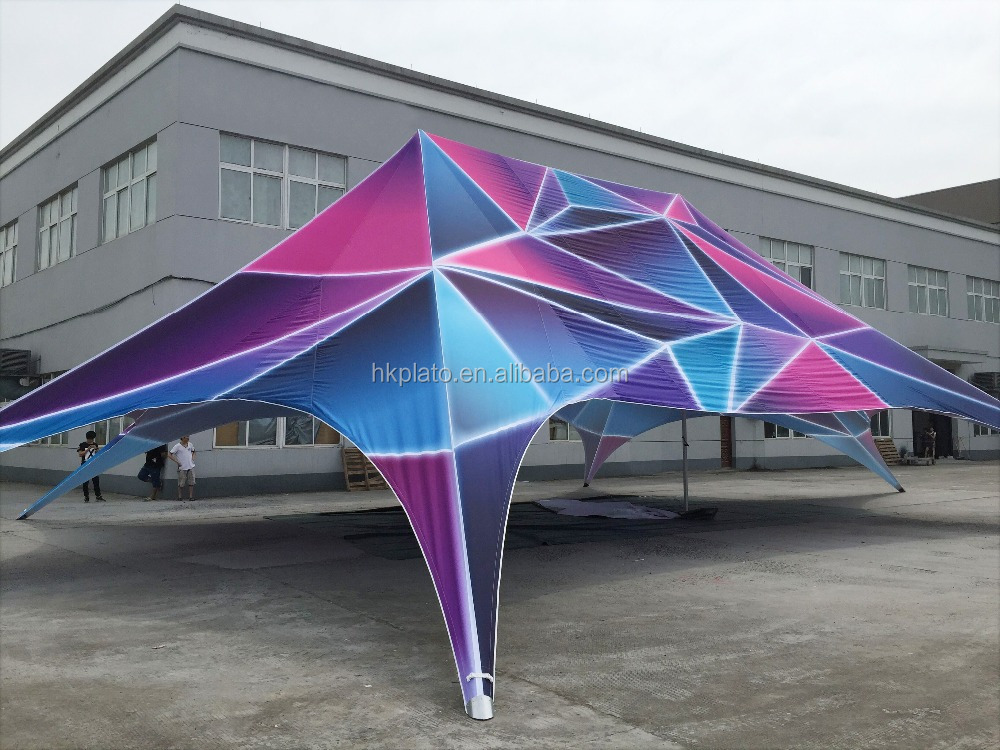 Double Roof Star Canopy Tents Trade Show Advertising Tents