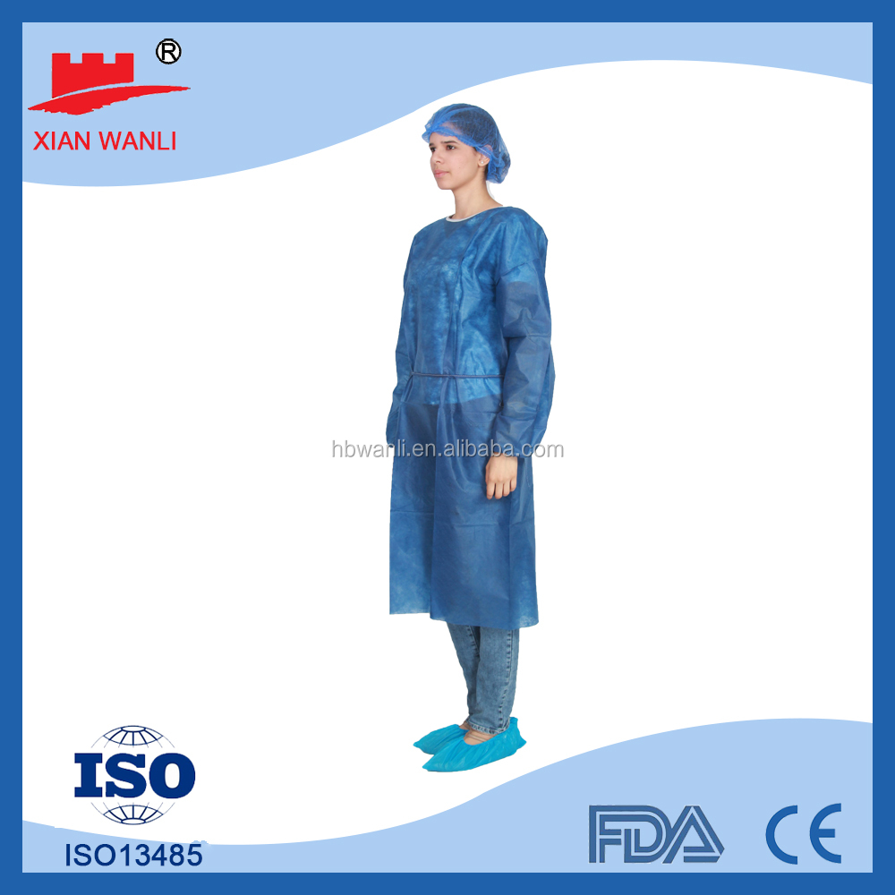 Disposable Hospital Gowns With Long Sleeve Cpe Disposable Surgical ...