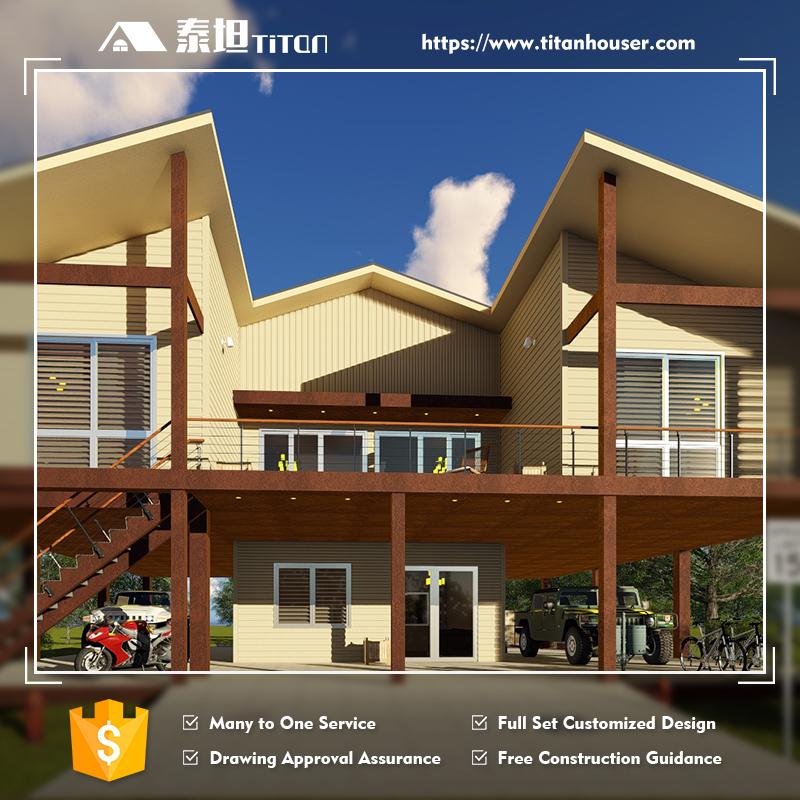Titan Tropical Style Bungalow Design for Phillipines with Floor Plan