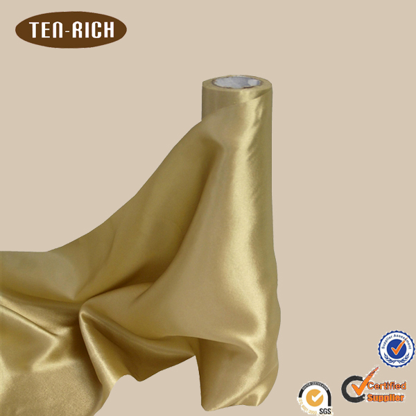 Satin recycled polyester fabric