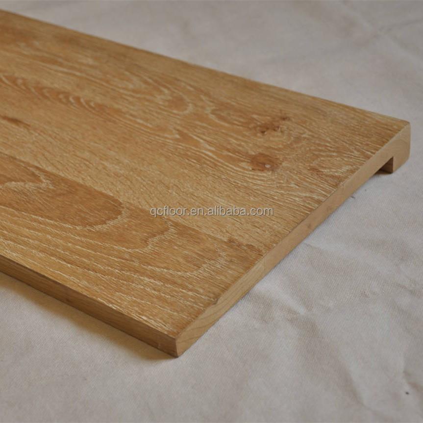 Hoge kwaliteit wit eiken massief hout trap loopvlak for Trap hout wit