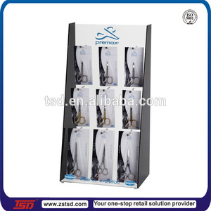 TSD-A855 shop acrylic hair scissor display/acrylic pop retail scissor display stand/acrylic counter display for scissors