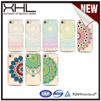 5.5 inch mobile phone case Factory custom 6s / 7 plus painted mandala new accessories protective cover