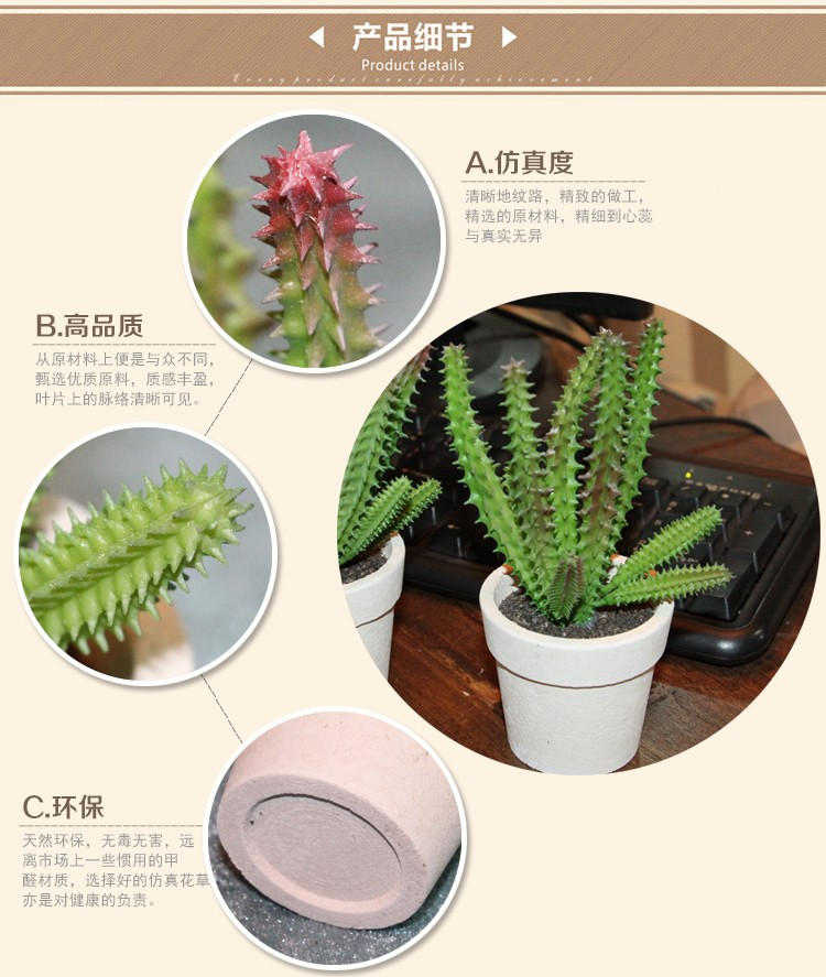 la production de masse en gros d coration grand cactus. Black Bedroom Furniture Sets. Home Design Ideas