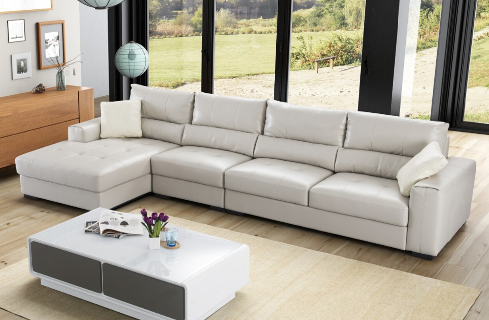 Modern Elegant White Color Latest Sofa Design L Shape Sofa Cover New Model Sofa  Sets Pictures