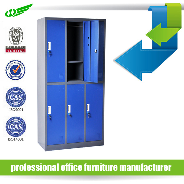 Cabinet Design For Clothes high quality modern storage kd 6 door clothing steel locker