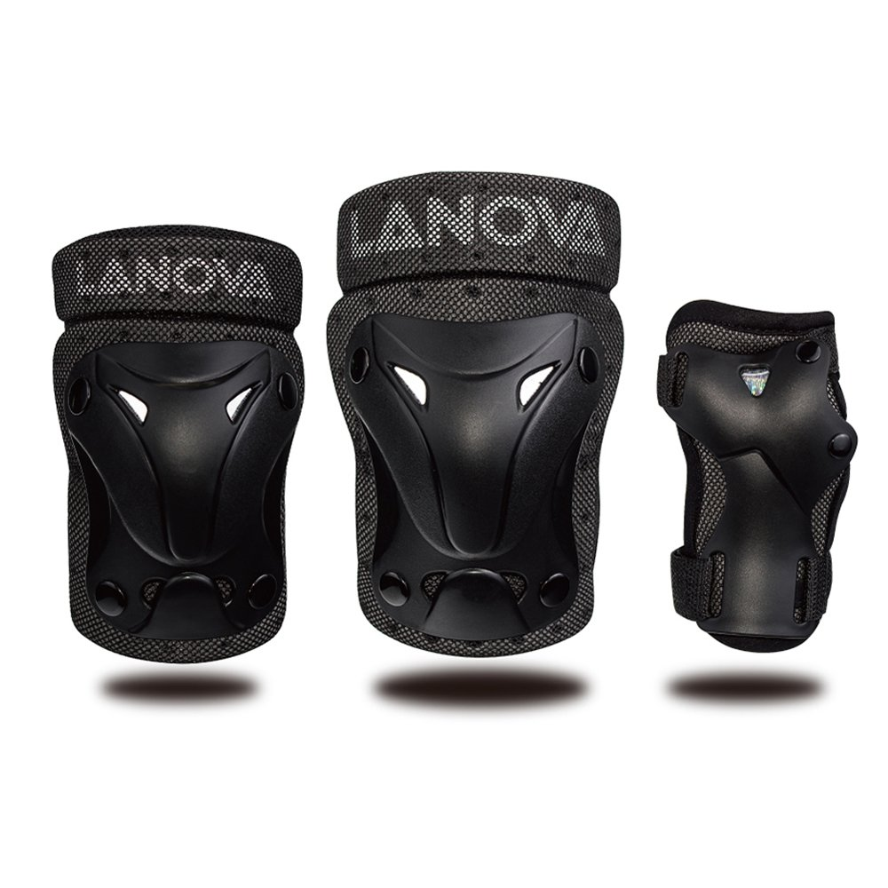 LANOVAGEAR Kids Youth Protective Gear Set, Knee and Elbow Pads with Wrist Guards for Multi-sports Outdoor Activities: Bike Cycling Bicycle Riding Rollerblading, Skating, Skateboarding, BMX