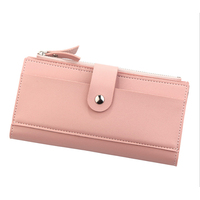 Women's Long Wallet Korean version handbag of multi-card seat handbag with buckle close