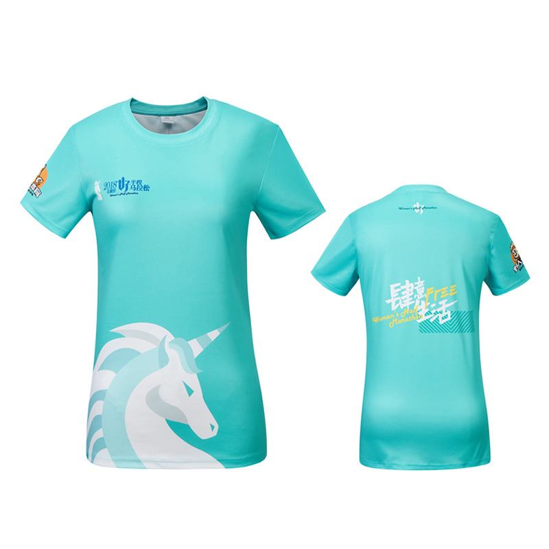 Custom compressed 170gsm polyester`sublimation sport t shirt