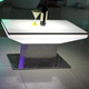 Glowing PE waterproof lighting bar restaurant table plastic LED table for sale