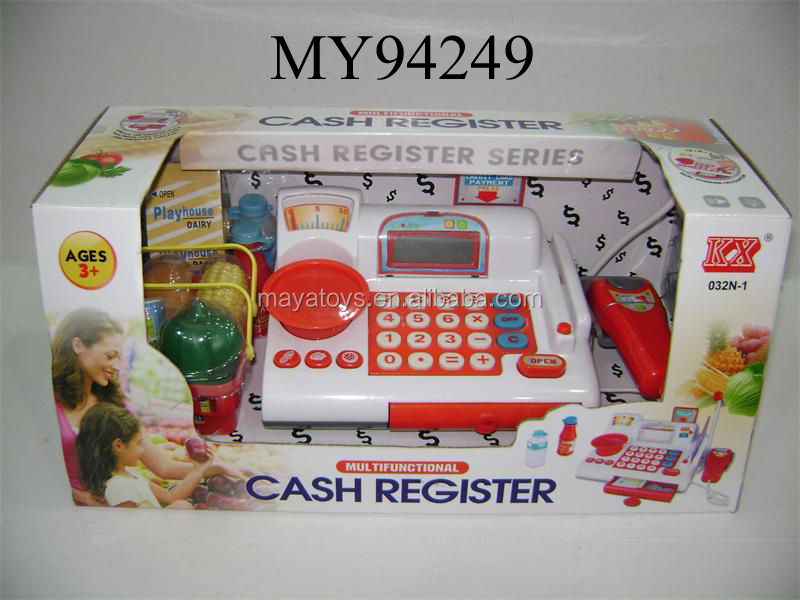 Hot And Newest Kids Plastic Cashier Toy Store Plastic Cash ...