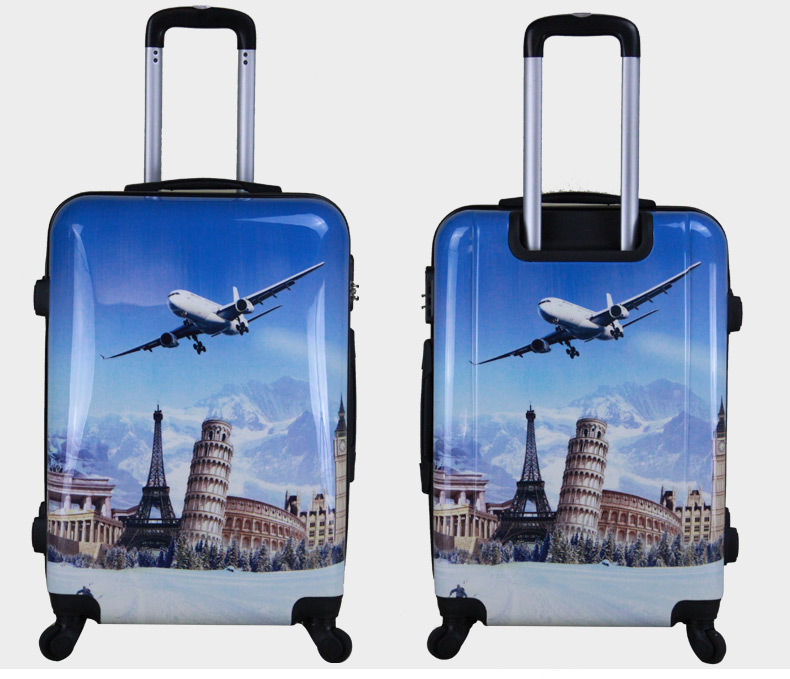 26a907a73 Trolley Bag Zip luggage aluminum frame luggage Type and PC Material  polycarbonate colourful trolley luggage
