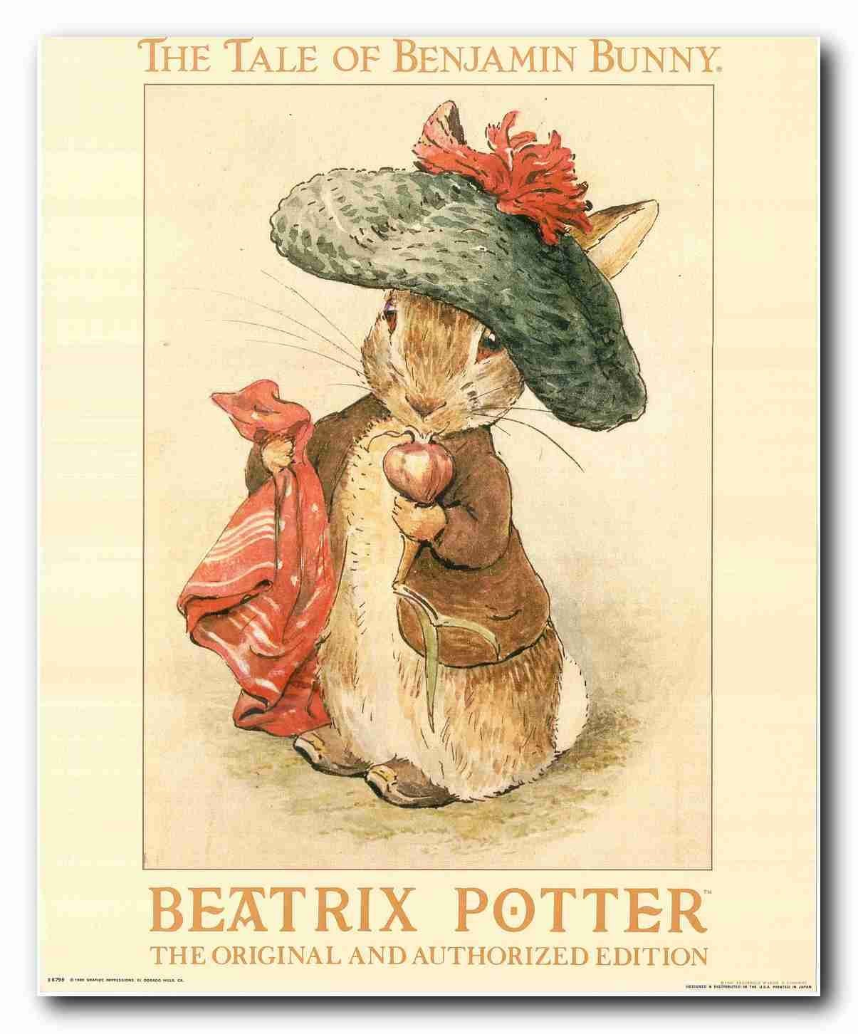 Buy Beatrix Potter Bunny Rabbit Childrens Kids Room Original and ...