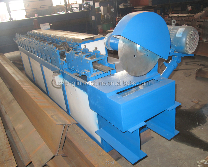 Best quality! Fly saw Roller shutter door roll former/ fly sawing cutting roller shutter door roll forming machine
