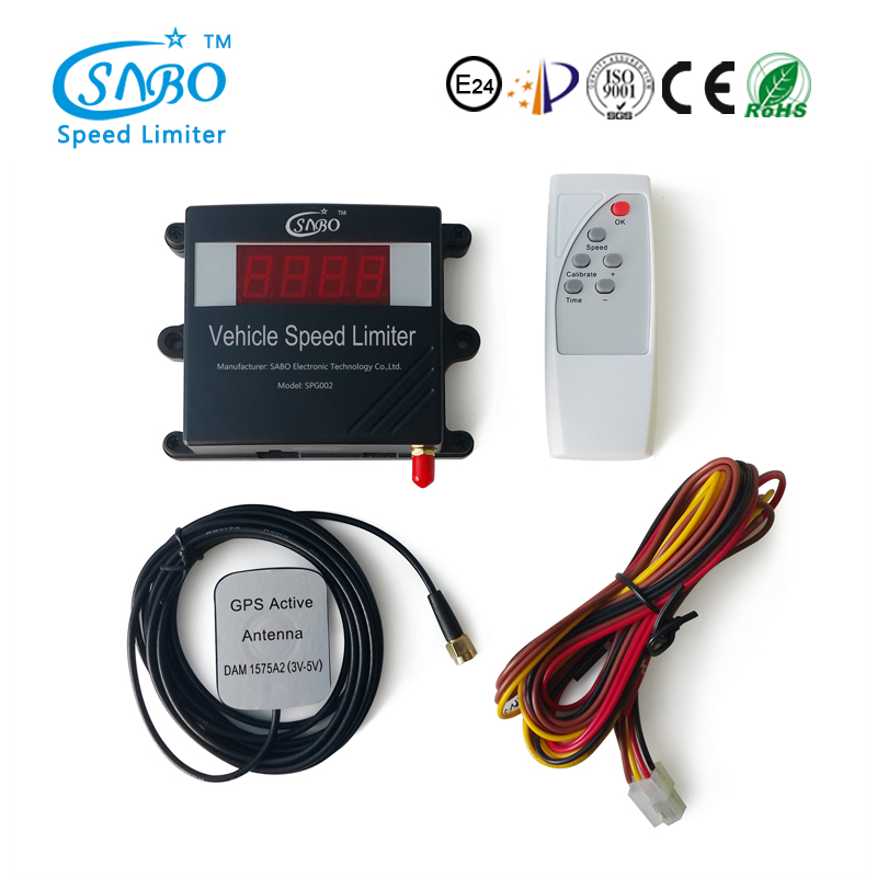 SABO speed limiters on vehicles speed restrictor head up display