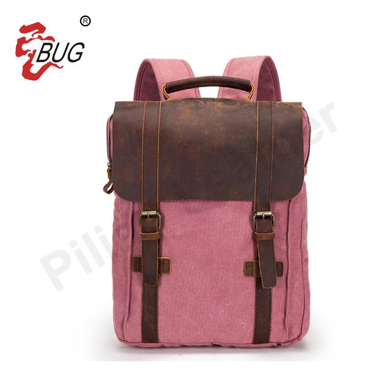 double shoulder strap canvas backpack/durable canvas back pack