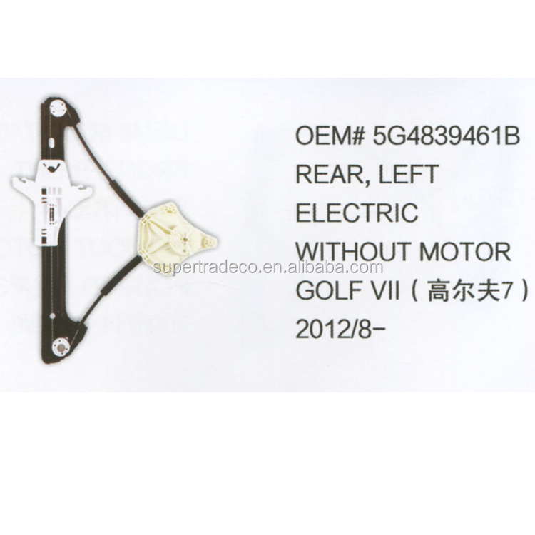 Auto Window Regulator Voor VOLKSWAGEN GOLF VII 2012/8-OEM NO.5G4839461B Achter Links Elektrische Zonder Motor Venster Lifter