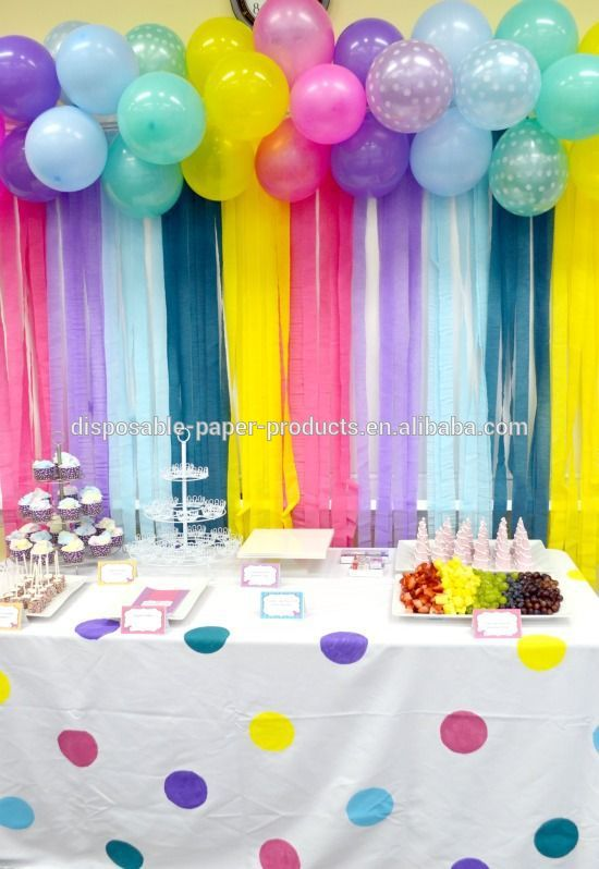 PINK BLUE Crepe Paper Streamers 4CM 25M Backdrop With The New Fringe Cutter