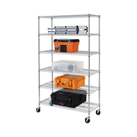 6 Tiers Heavy Duty Chrome Wire Shelving wire shelf
