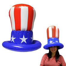 custom PVC inflatable blue hat toys for kids