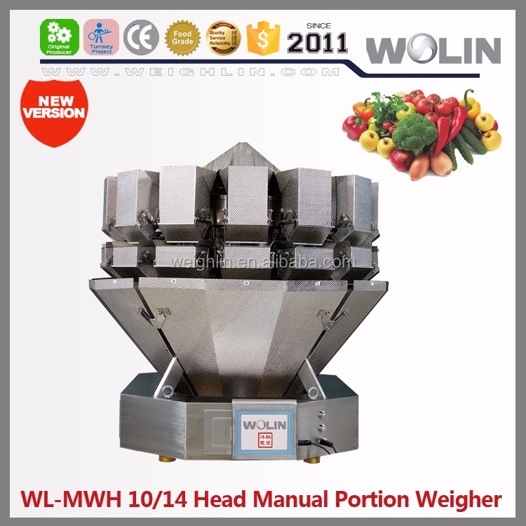 Weighlin potatoes fresh salad weighing multihead