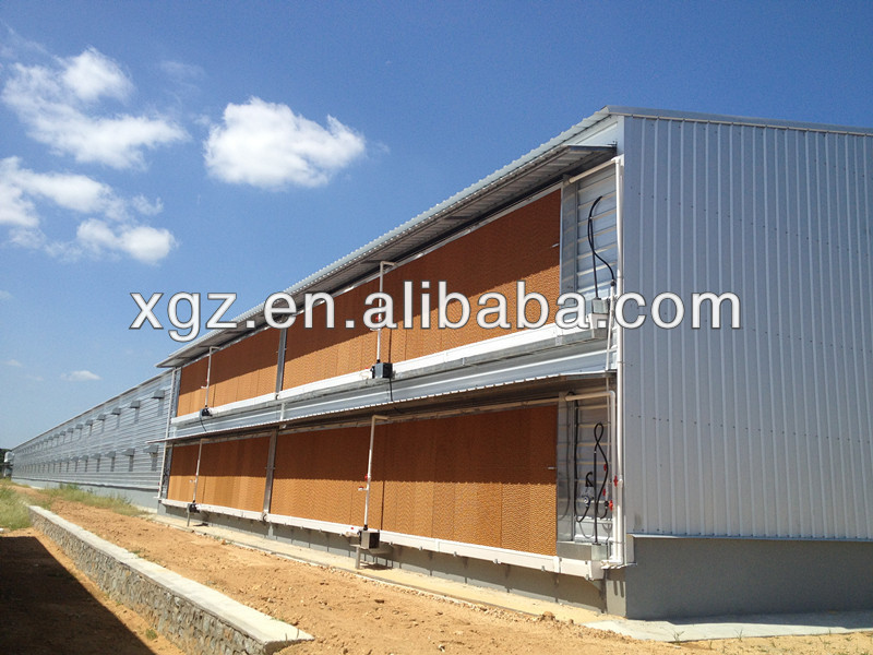 Prefabricated low cost poultry house/hen house for broiler