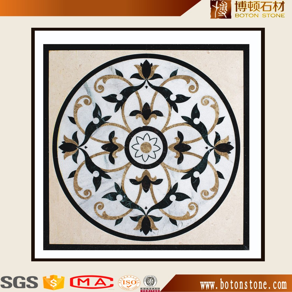 best luxury decoration flooring marble waterjet for hotel hall