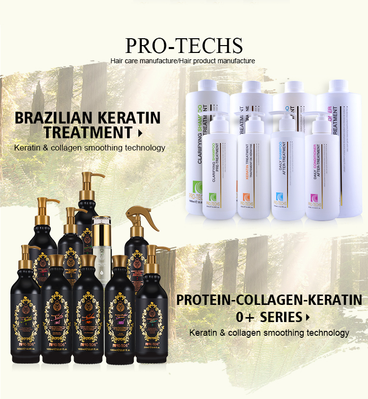 PRO-TECHS keratin professional salon clarifying shampoo with argan oil wholesale