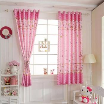 Roze Kleur Gordijnen Mooie Patroon Gordijnen Voor Kinderkamer - Buy ...