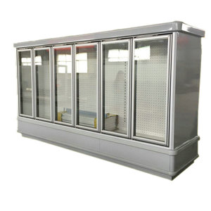 Upright supermarket refrigerators size commercial beer cooler 6 glass door freezer price