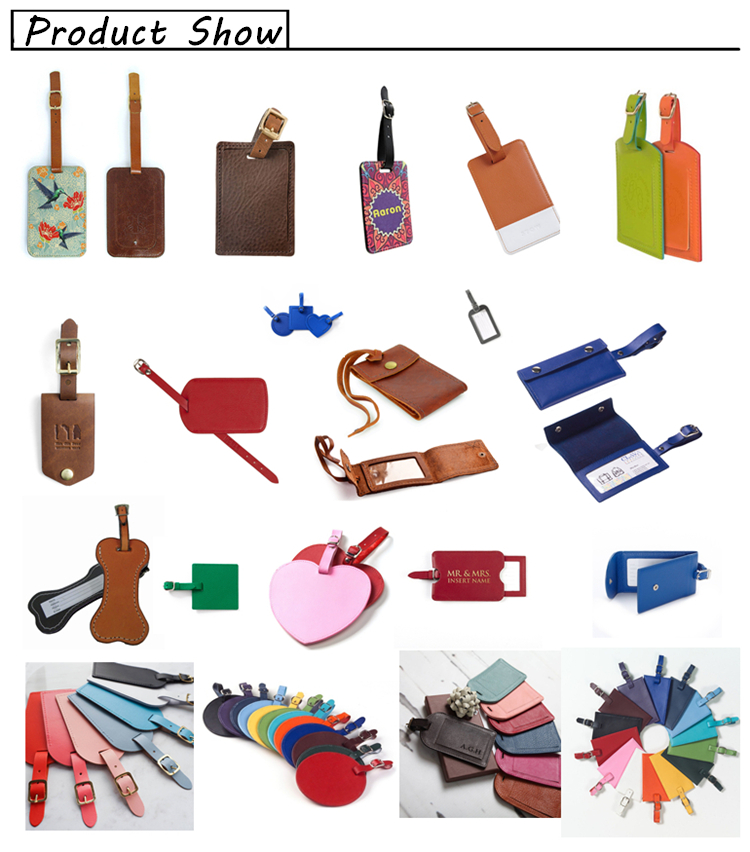 Bulk PU luggage travel tags