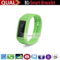 2015 hot new organic silicone strap Bluetooth smart Bracelet B1 health smart Bracelet support mobile phone anti lost alarm Q