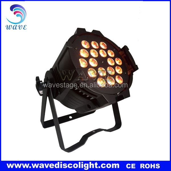 2017 led par 18 x 18w par can 64 RGBWAUV 6in1 led uplighting