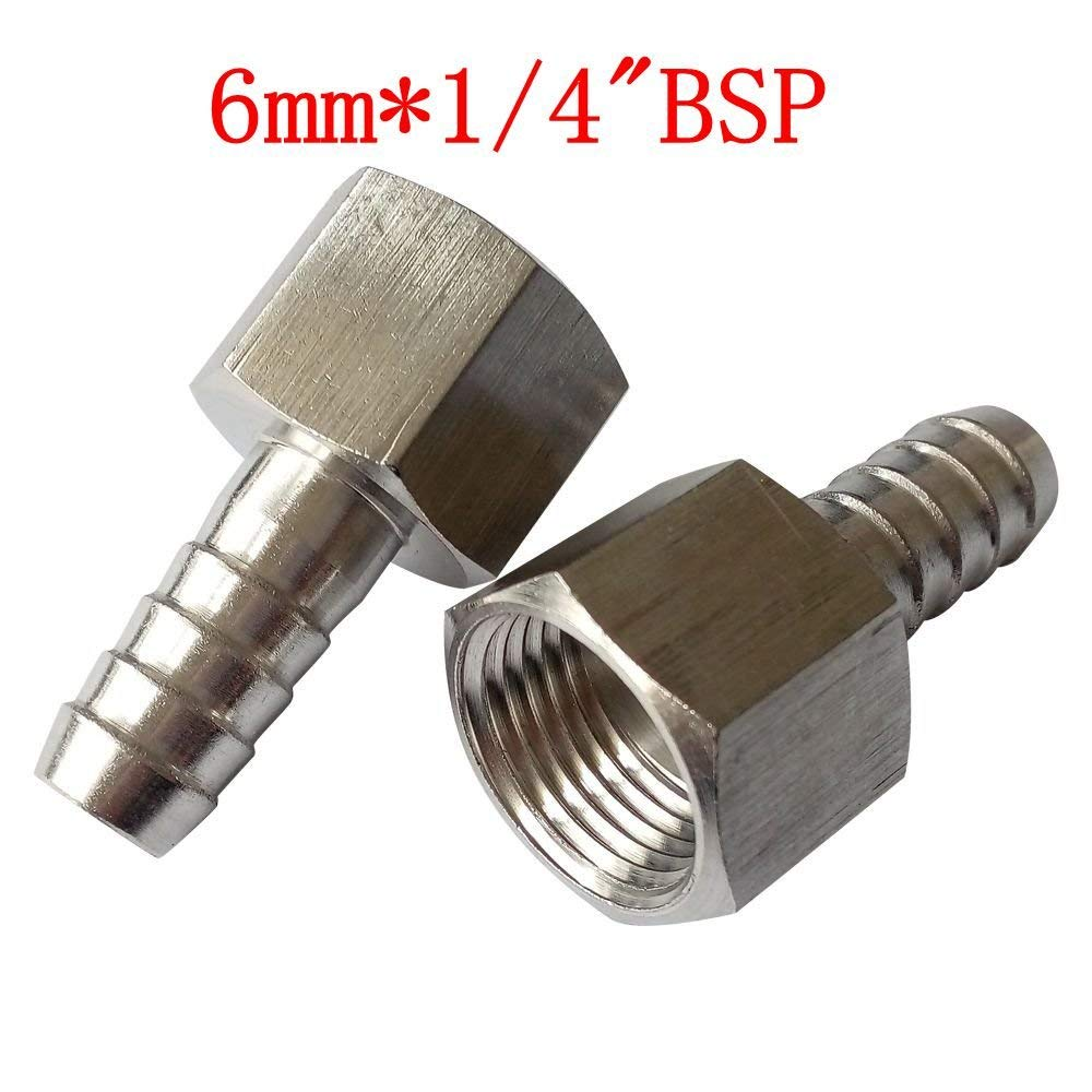 3//8 BSP Thread Hose Tail for 3//8 Pipe//Hose Connector Air Fitting FT036