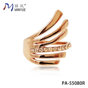 Nice 18k Saudi Gold Jewelry Ring Fashion Fake Diamond Ring Jewelry