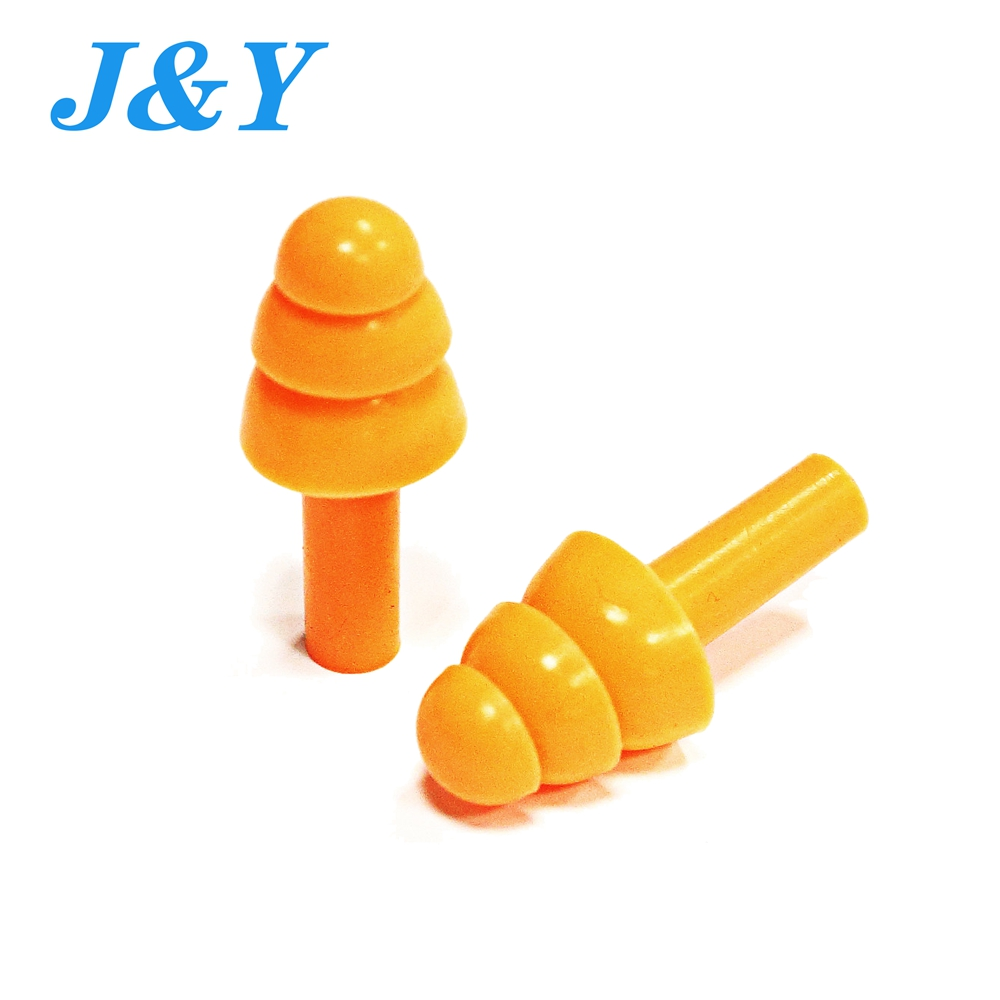 3 Flange Christmas Tree Shape Non-toxic Disposable Silicone Ce Ansi As Nzs Stop Snoring Anti-noise Safety Earplugs Air Ear Plugs