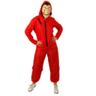 Logo Customization Costume Salvador Dali La Casa De Papel Red Overall Jumpsuit TV Movie Famous Costume with Mask